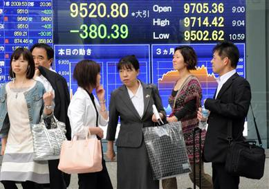 Japan and world markets tumbling - dollar stronger