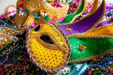 ME-P Mardi Gras Mask on Fat Tuesday