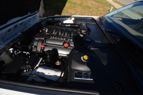 My Jaguar's engine after a steam