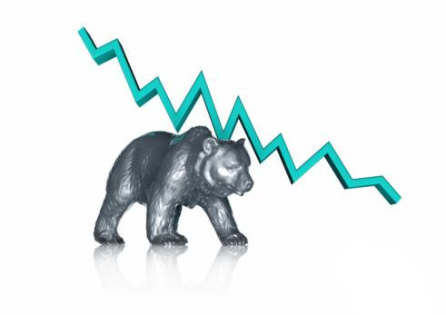Bear + A Falling Stock Chart